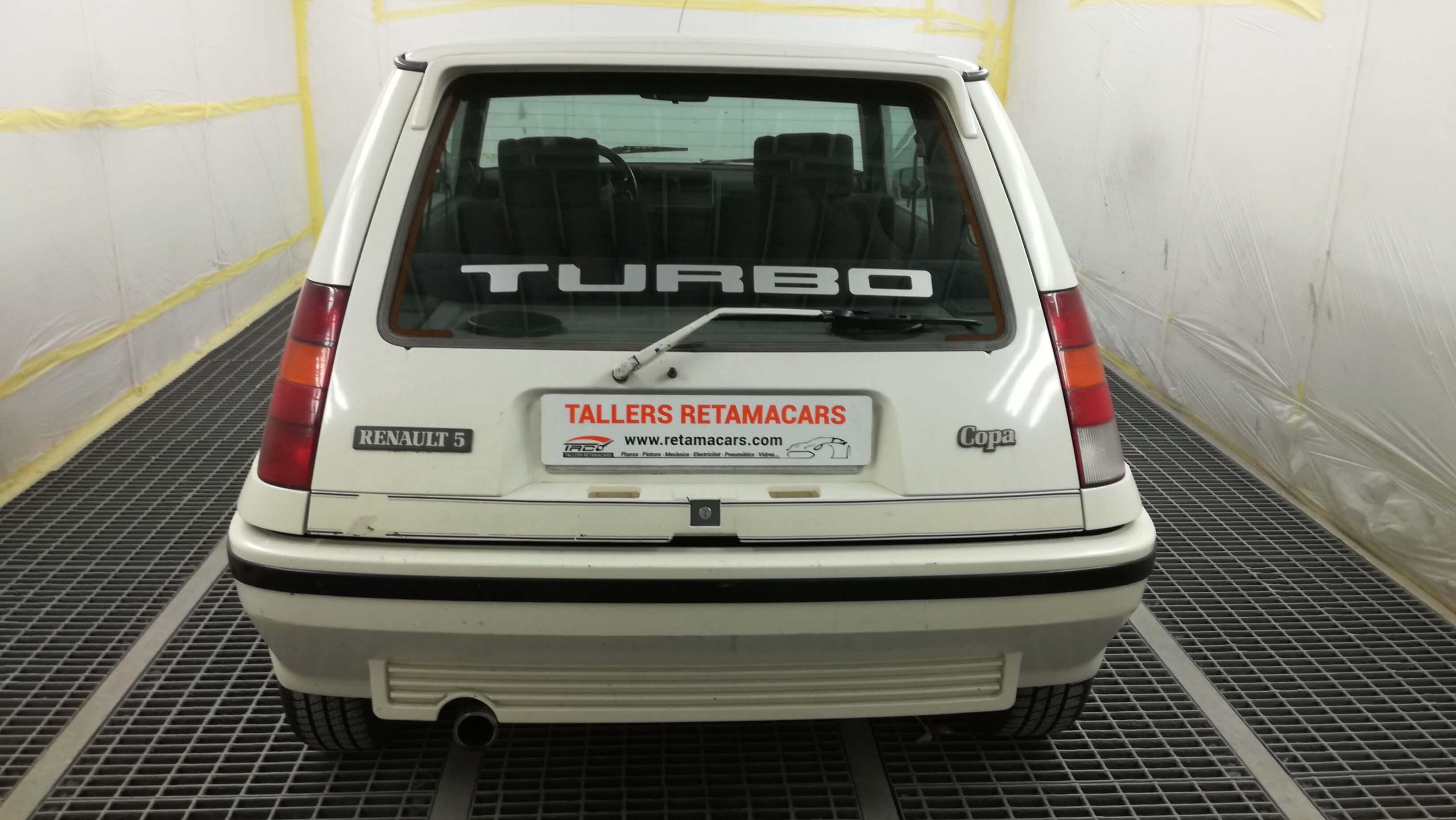 Parte trasera del Renault 5 gt turbo